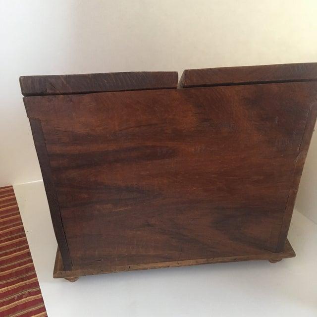 Vintage Rustic Wooden Desktop Cabinet Storage Organizer For Sale - Image 4 of 13