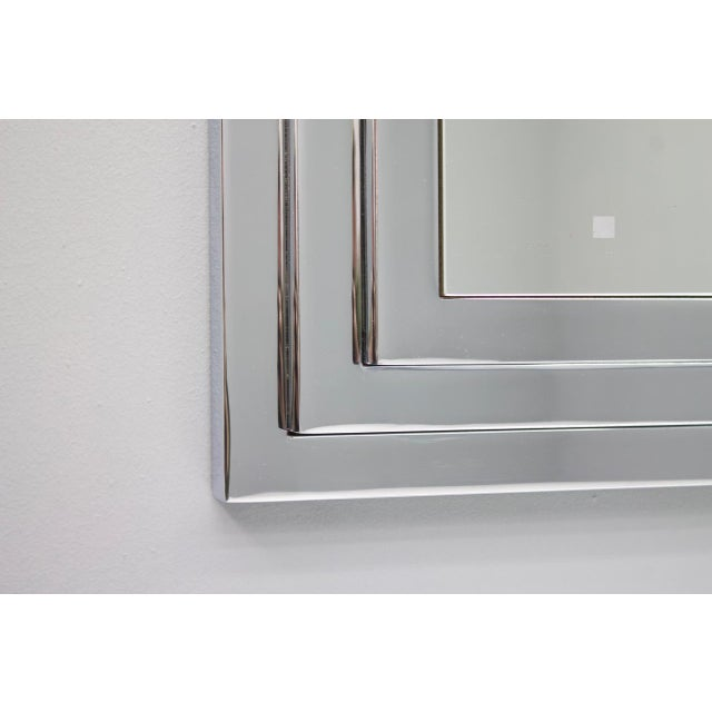 Hollywood Regency Hollywood Regency Chrome Mirror and Console Table, France, 1974 For Sale - Image 3 of 11