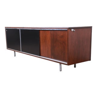George Nelson for Herman Miller Mid-Century Modern Walnut Sideboard Credenza, Newly Restored For Sale