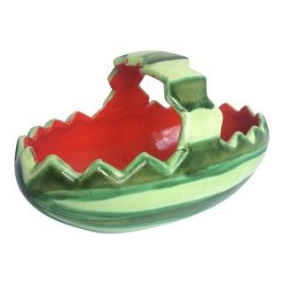 1980s Ceramic Glazed Watermelon Bowl For Sale