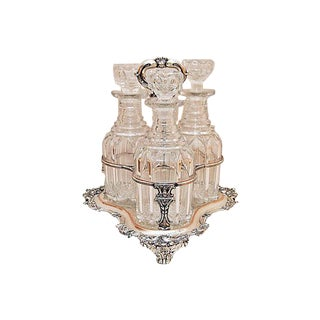 Triple Decanter Caddy For Sale
