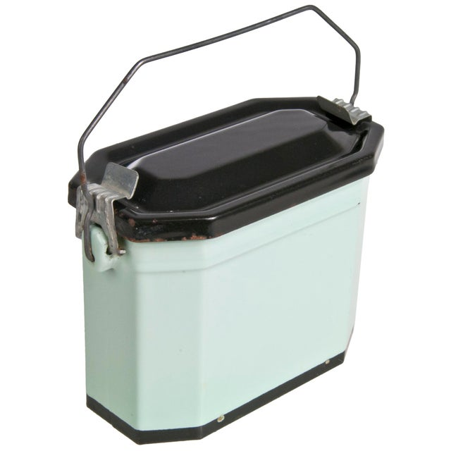Vintage French Enamel Lunch Pail - Image 2 of 4