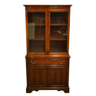 1960s Mahogany Petite Display China Cabinet For Sale