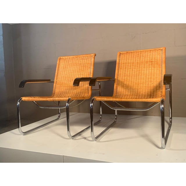 Modern Classic Marcel Breuer B35 Chairs Icf - a Pair For Sale - Image 3 of 13