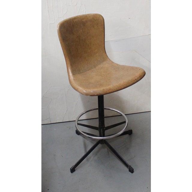 1950s Fiberglass Drafting Stool Chairish