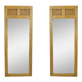 Mid-Century Walnut Mirrors, A Pair For Sale