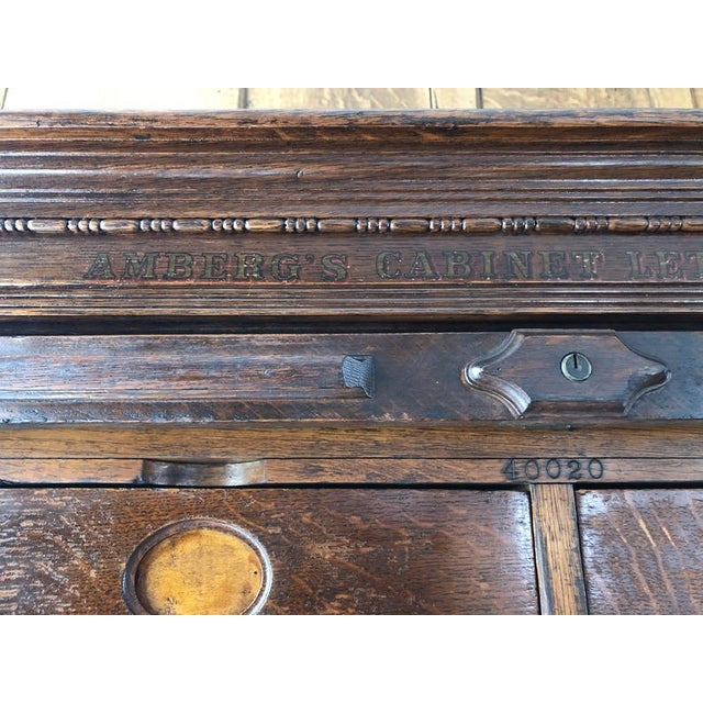 Antique Ambergs File Cabinet For Sale In Chicago - Image 6 of 11