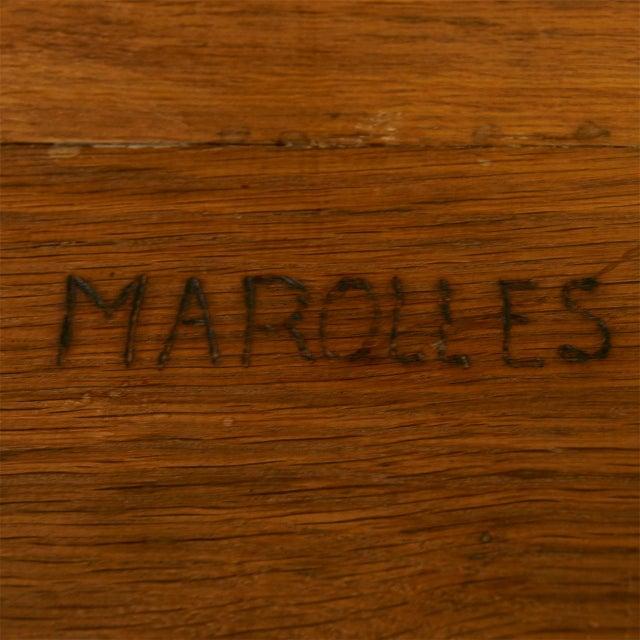 Oak Bench by Jean Touret for Atelier Marolles For Sale In San Francisco - Image 6 of 7