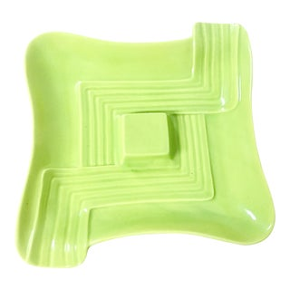 Mid-Century Modern Abstract Design Calif. Pottery G1 Tray For Sale