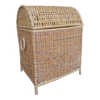 White Washed Wicker Basket