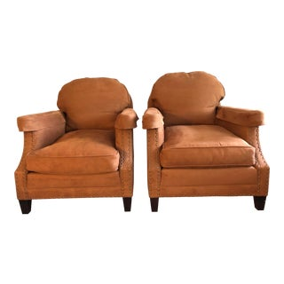 Vintage William Sonoma Classic Club Chairs - a Pair For Sale