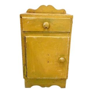 Antique Santa Fe Distressed Yellow Cabinet