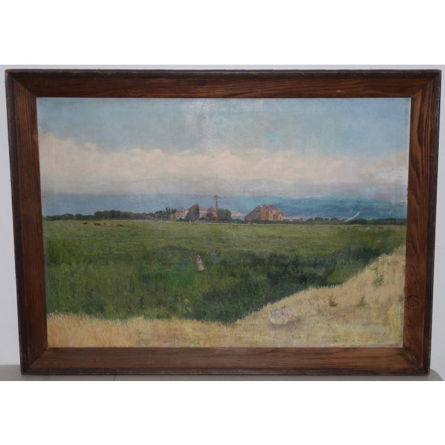 Prather Fresno Family Farm, Prather, Ca Historical Oil Painting 19th Century For Sale - Image 11 of 11