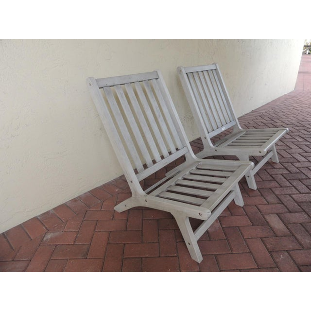 2010s Pair of Safavieh Outdoor Lounge Chairs For Sale - Image 5 of 5