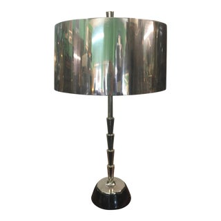 Gobal Views Chrome Table Lamp For Sale