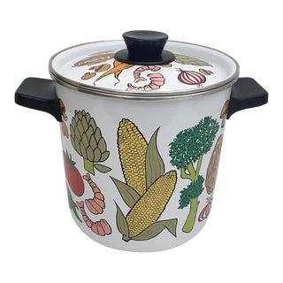 Vintage Mid-Century Enamel Pot