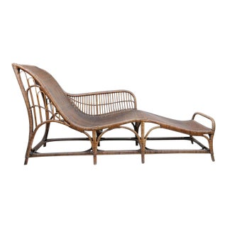Harry Peach Company Drayad Registered Wicker Chaise For Sale