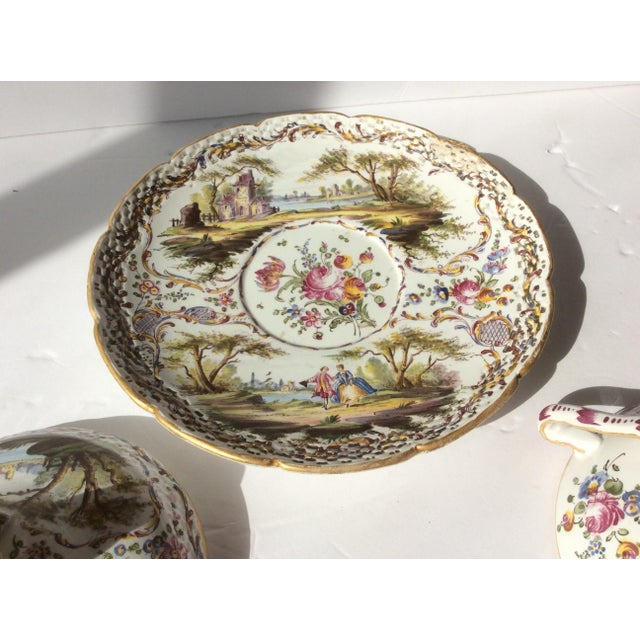Antique French Faience Serving Dishes - 3 Piece Set For Sale - Image 5 of 10
