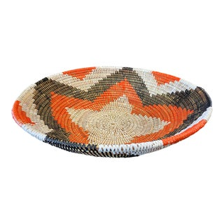 1980s Woven Wolof Basket From Senegal For Sale