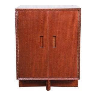 Frank Lloyd Wright Taliesin Mahogany Cabinet, Newly Restored For Sale