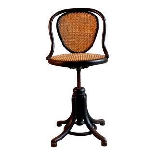 Thonet Ebonized Bentwood Swivel Office Chair Austria, circa 1900 For Sale