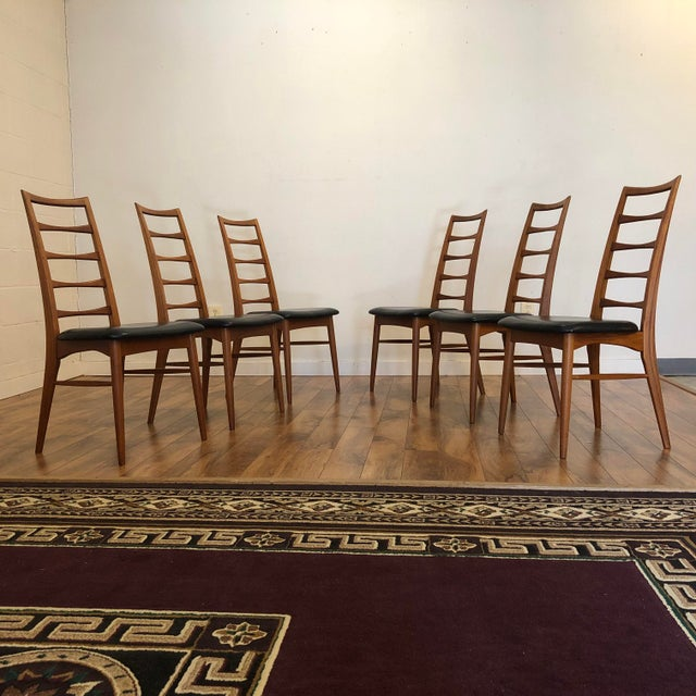 Niels Koefoed for Koefoeds Hornslet Lis Teak Ladder Back Dining Chairs - Set of 6 For Sale - Image 13 of 13