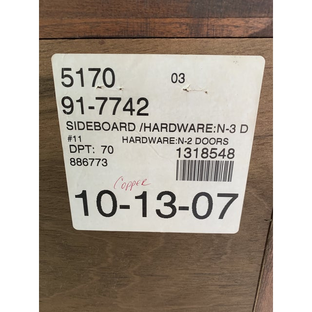 Traditional Stickley Metropolitan Sideboard For Sale - Image 3 of 8
