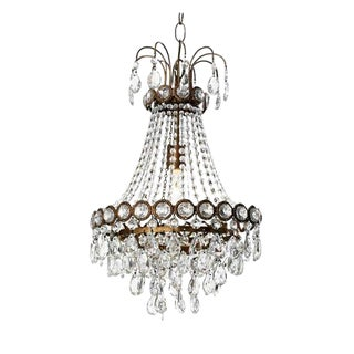 Swedish Canopy Designs Crystal Chandelier For Sale