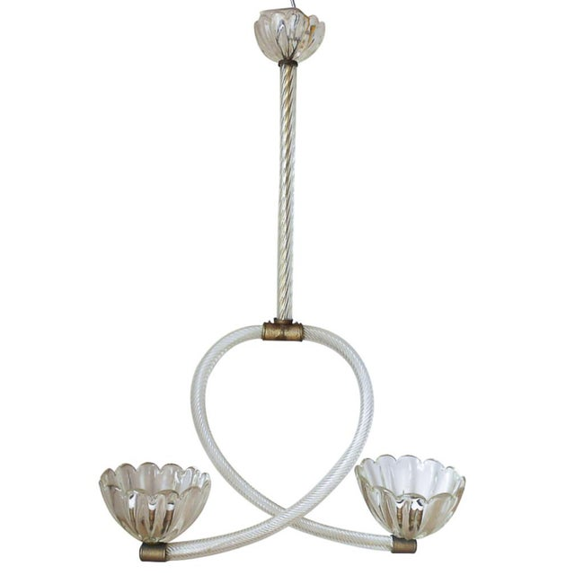Gold Cups Pendant by Barovier E Toso For Sale - Image 8 of 8