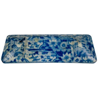 19th C. Staffordshire Pearlware Blue & White Transferware Pearlware Knife Rest