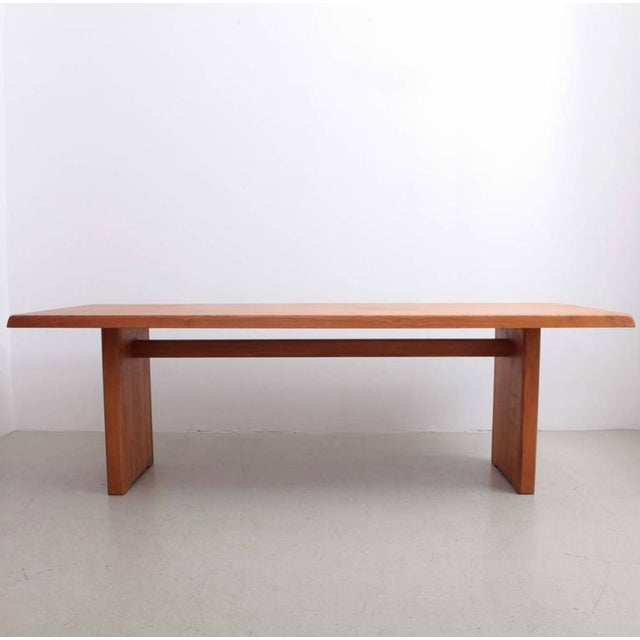 1970s Rare Large Pierre Chapo T14D Dining Table in Elmwood, France, 1970s For Sale - Image 5 of 6