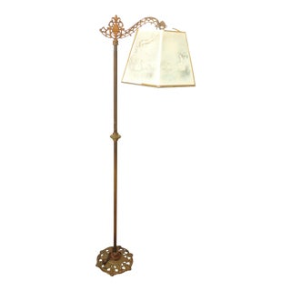 Antique Andres Orpinas Victorian French Country Metal Floor Lamp For Sale