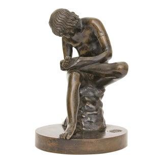 19th Century Grand Tour Bronze Sculpture Boy For Sale