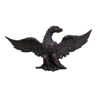 Carved Wooden Eagle of Generous Proportions, 19th Century For Sale