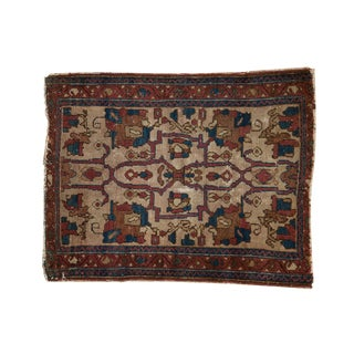 "Antique Lilihan Square Rug - 3' X 3'8"" For Sale"
