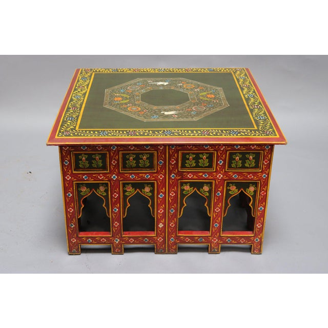 Asian Painted Wooden Coffee Table For Sale In Los Angeles - Image 6 of 6