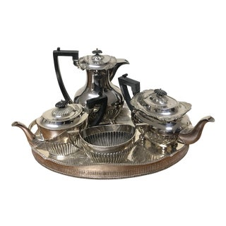 Silver Tea Coffee Set of 5 For Sale