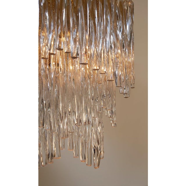 Vintage Mid-Century Murano Glass Chandelier Fixture For Sale - Image 10 of 11