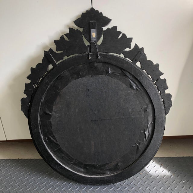Early 20th Century Vintage Round Venetian Mirror 26x30 For Sale - Image 10 of 12