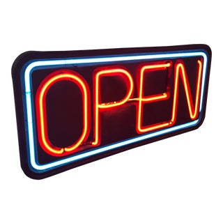 """Vintage Neon """"Open"""" Sign For Sale"""