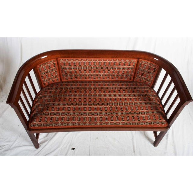 Red Antique Bentwood Seat by Josef Hoffmann for Thonet For Sale - Image 8 of 11