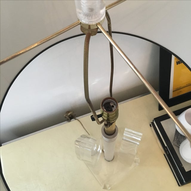 Vintage Mid-Century Sculptural Acrylic Table Lamp Attributed to Van Teal - Image 7 of 8