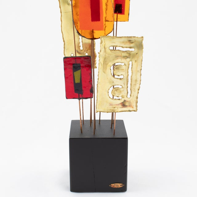 1960s C. Jeré Artisan House Resin and Brass Tabletop Sculpture, Circa 1966 For Sale - Image 5 of 13