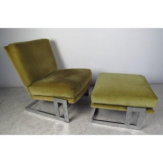 Vintage Milo Baughman Lounge Chairs and Ottoman for Thayer Coggin Preview