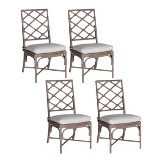 Gabby Kennedy Dining Chairs With Custom Schumacher Cushions - Set of 4