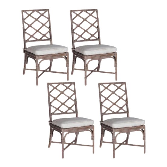 Gabby Kennedy Dining Chairs With Custom Schumacher Cushions - Set of 4 - Image 1 of 7
