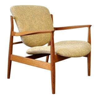 Finn Juhl FD 136 Teak Lounge Chair For Sale