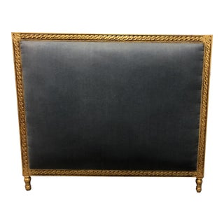 20th Century French Giltwood Square King Size Headboard