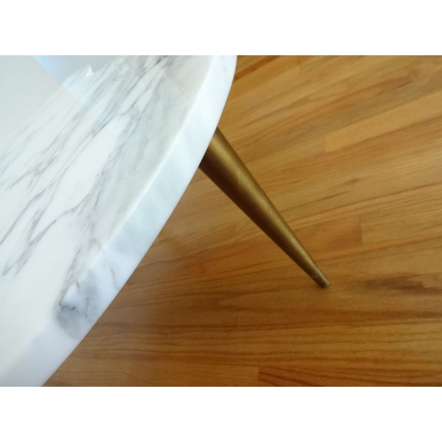 Mid-Century Modern Marble Clover Coffee Table - Image 6 of 8