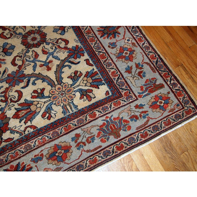 Islamic 1900s Handmade Antique Persian Mahal Rug 9.2' X 11.6' For Sale - Image 3 of 11